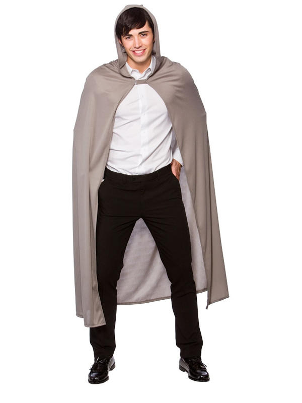 Grey Cape With Hood Adult Thumbnail 1