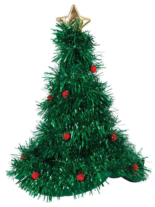 Adult Christmas Tinsel Tree Hat