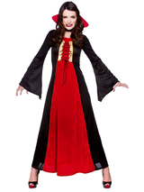 Bloodthirsty Vampiress Fancy Dress Costume Ladies Halloween Vampire Outfit BN
