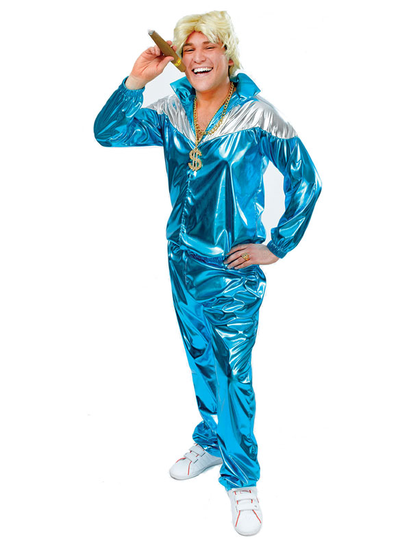 Shell Suit Turquoise Costume