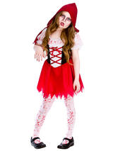 Child Girls Lil Zombie Riding Hood Costume