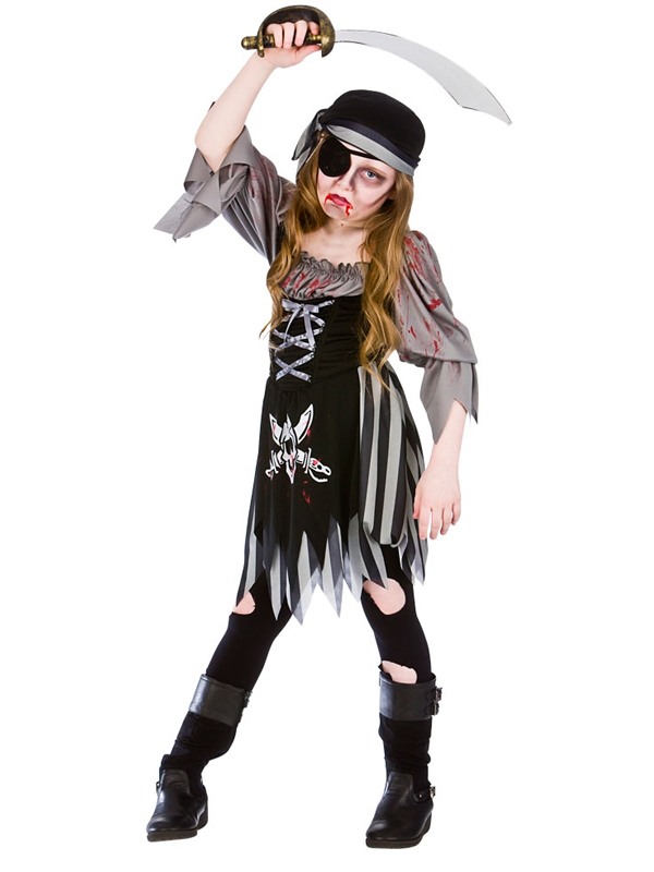 Child Girls Zombie Ghost Pirate Costume  sc 1 st  Plymouth Fancy Dress & Child Girls Zombie Ghost Pirate Costume | Girls Costumes | Plymouth ...