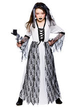 Child Girls Ghastly Ghost Bride Costume