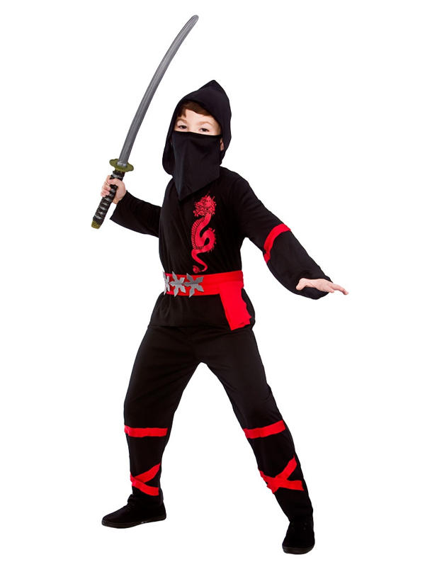 Child Power Ninja Black Costume