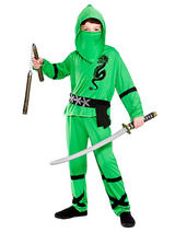 Child Power Ninja Green Costume