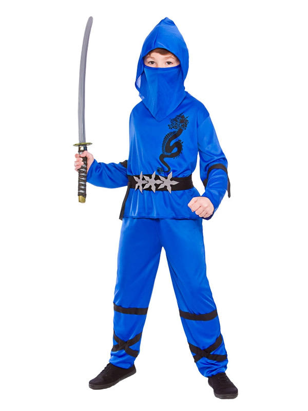 Child Power Ninja Blue Costume