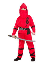 Child Power Ninja Red Costume