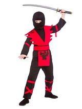 Child Ninja Assassin Black Red Costume