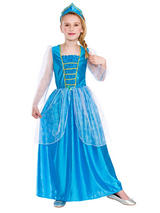 Child Ice Blue Princess Costume