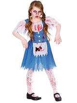 Child Girls Zombie Country Girl Costume