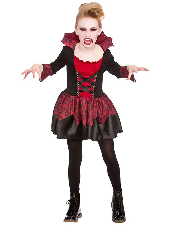 Child Girls Little Vampiress Costume