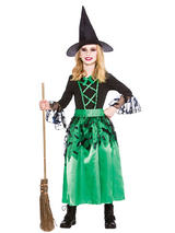 Child Girls Spellcaster Witch Costume