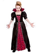 Child Girls Victorian Vampiress Costume