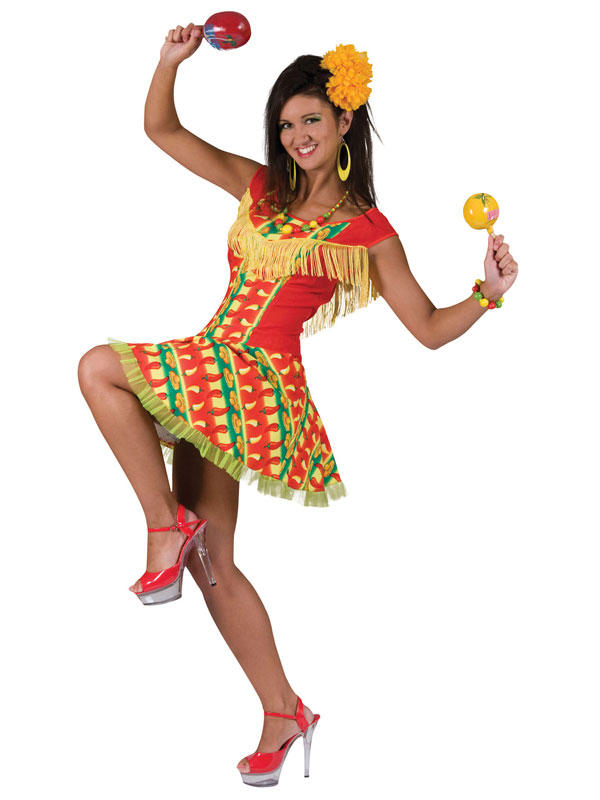Mexicana Lady Dress Costume Thumbnail 1