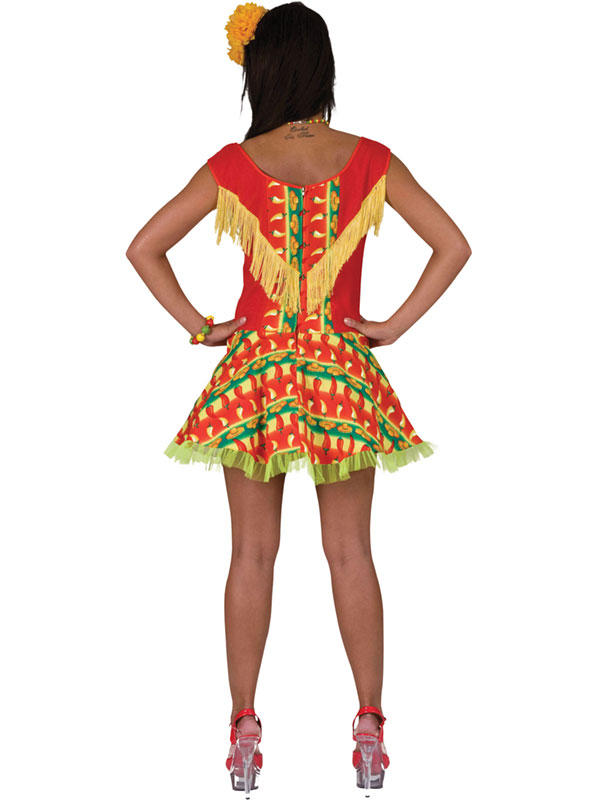 Mexicana Lady Dress Costume Thumbnail 2