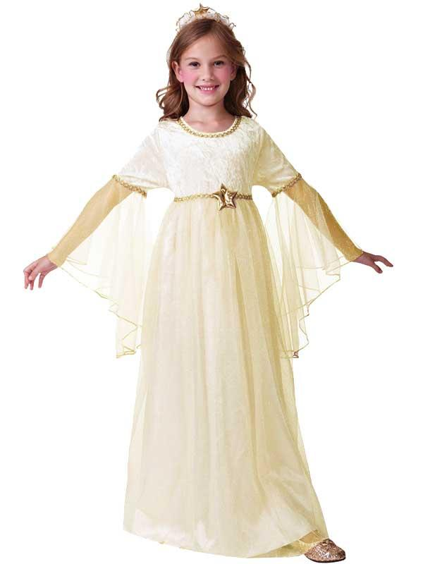Child Long Sleeved Angel Costume Thumbnail 1