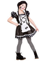Child Girls Broken Doll Costume