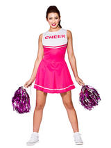 High School Cheerleader Pink Costume