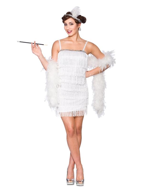 Showtime Flapper White Costume