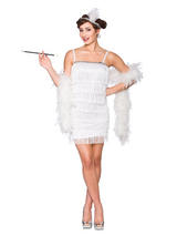 Showtime Flapper White Costume