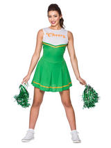 """Cheers"" Cheerleader Green Costume"