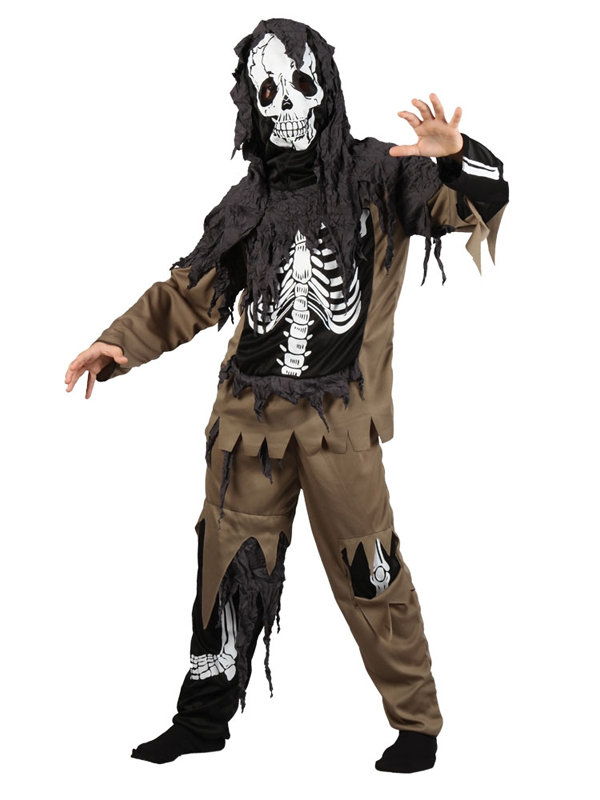 Child Boys Rotten Skeleton Zombie Costume