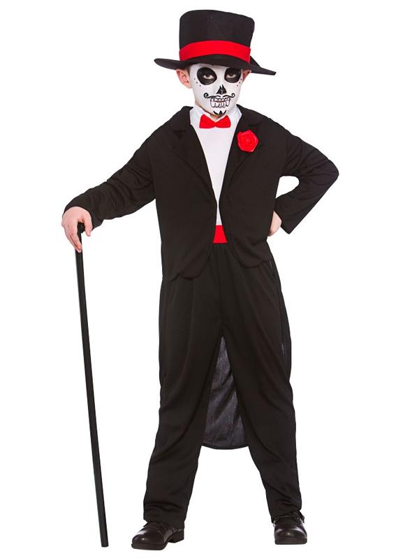 Child Boys Day Of The Dead Senor Costume