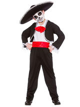 Child Boys Day Of The Dead Costume