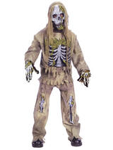 Child Boys Skeleton Zombie Costume