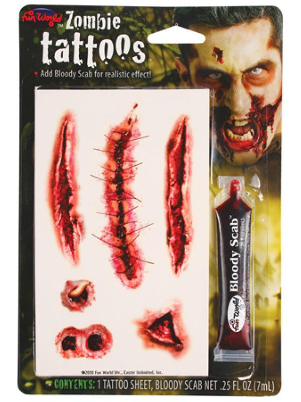 Zombie Tattoos W Bloody Scab Thumbnail 3