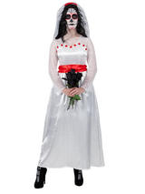 Mexican Bride Of The Dead Costume