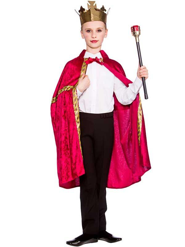 Child Deluxe King Queen Robe & Crown Burgundy Thumbnail 3