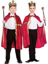 Child Deluxe King Queen Robe & Crown Burgundy