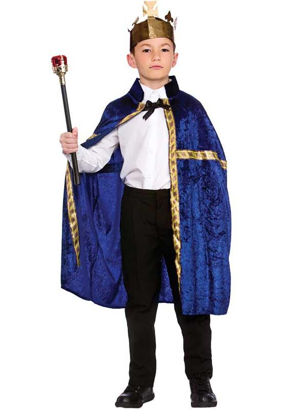 Child Deluxe King Queen Robe & Crown Blue Thumbnail 2