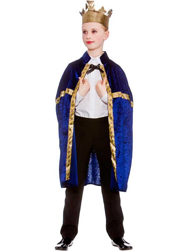 Child Deluxe King Queen Robe & Crown Blue Thumbnail 3