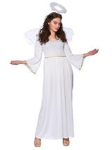 Adult Sexy Christmas Angel Ladies Fancy Dress Costume Xmas Party Outfit 14-24