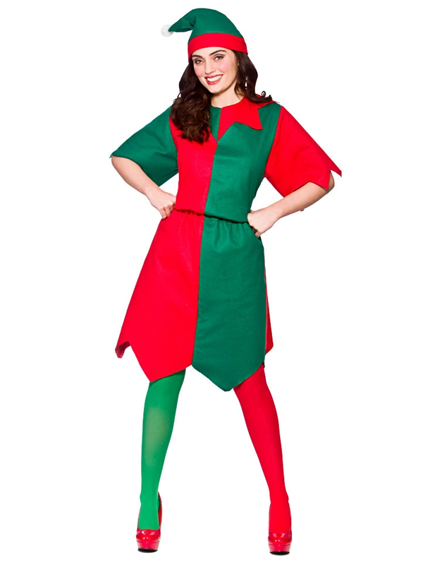 Budget Elf Lady Costume  sc 1 st  Plymouth Fancy Dress! : elf adult costume  - Germanpascual.Com