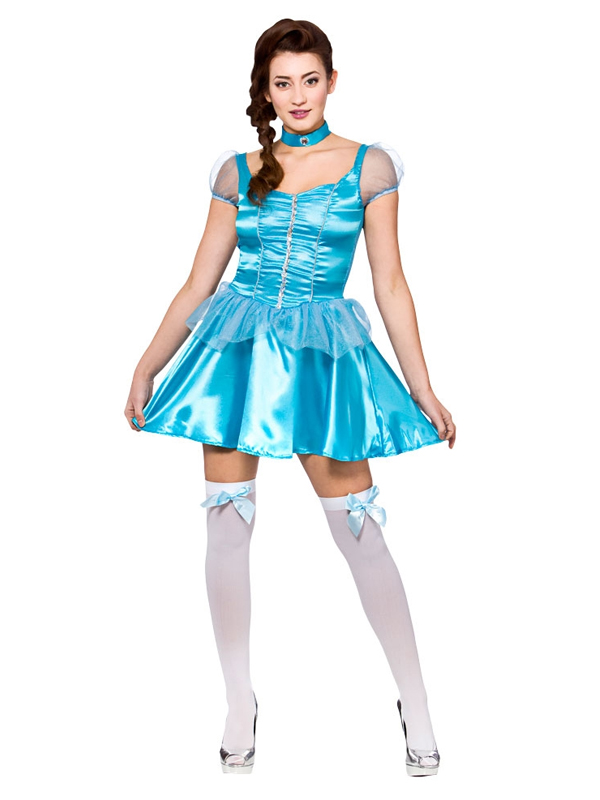 Ice Blue Princess Short Costume