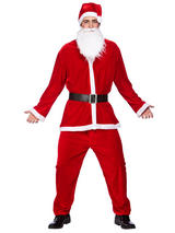 Piece Deluxe Santa Suit Costume