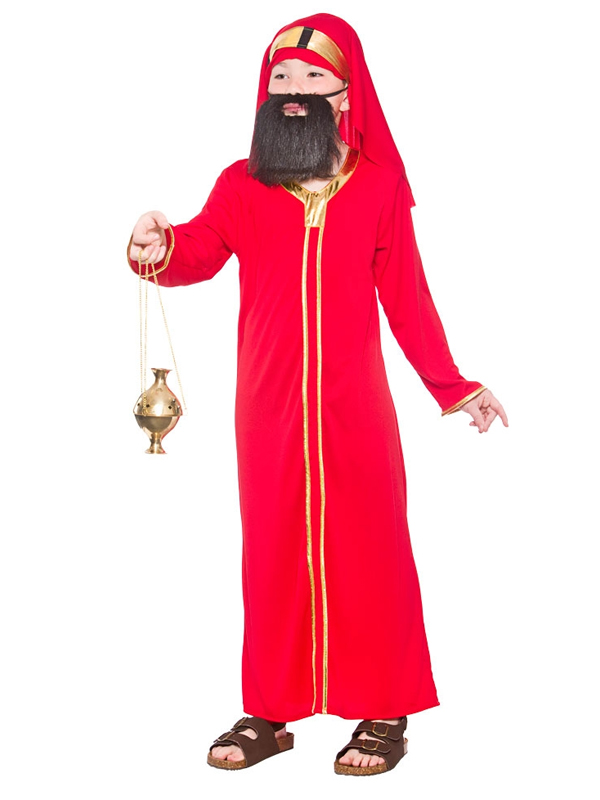 Child Red Wise Man Balthazar Costume