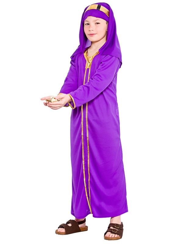 Child Purple Wise Man Melchior Costume