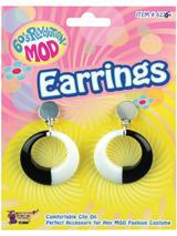 Mod Black & White Earrings