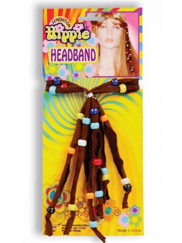 Adult Beaded Hippie Headband Thumbnail 1