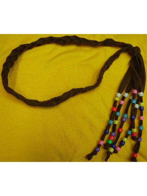 Adult Beaded Hippie Headband Thumbnail 2