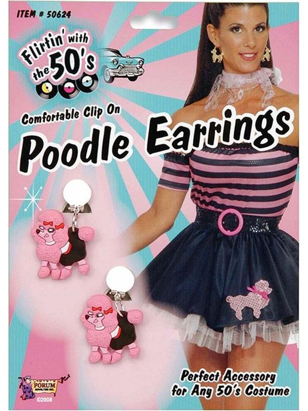 Pink Poodle Earrings