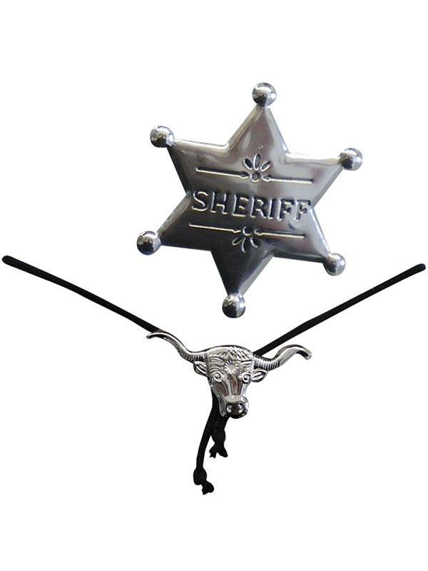 Cowboy String Tie & Badge Thumbnail 3