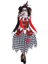 Scary Harlequin Girl Costume
