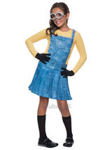 Child Girls Female Minion Costume
