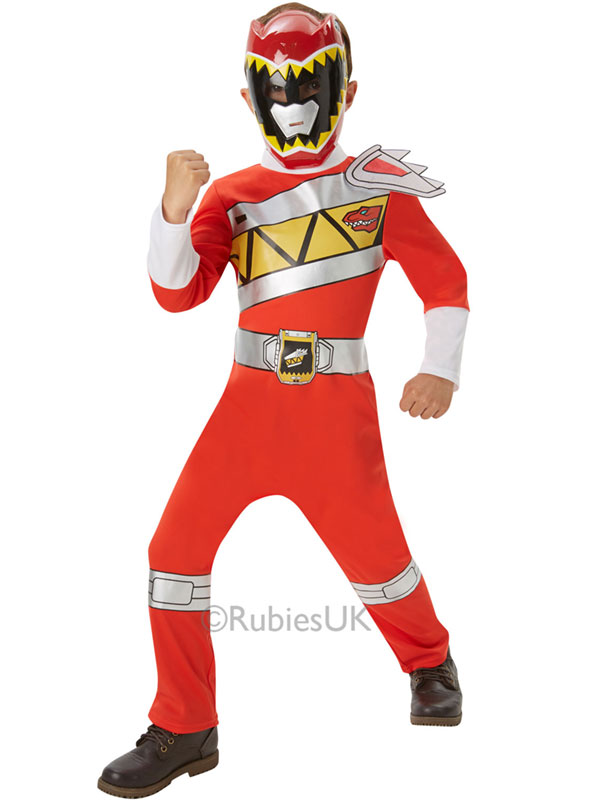 Child Dino Charge Red Power Ranger Costume