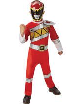Child Dino Charge Red Power Ranger Deluxe Costume